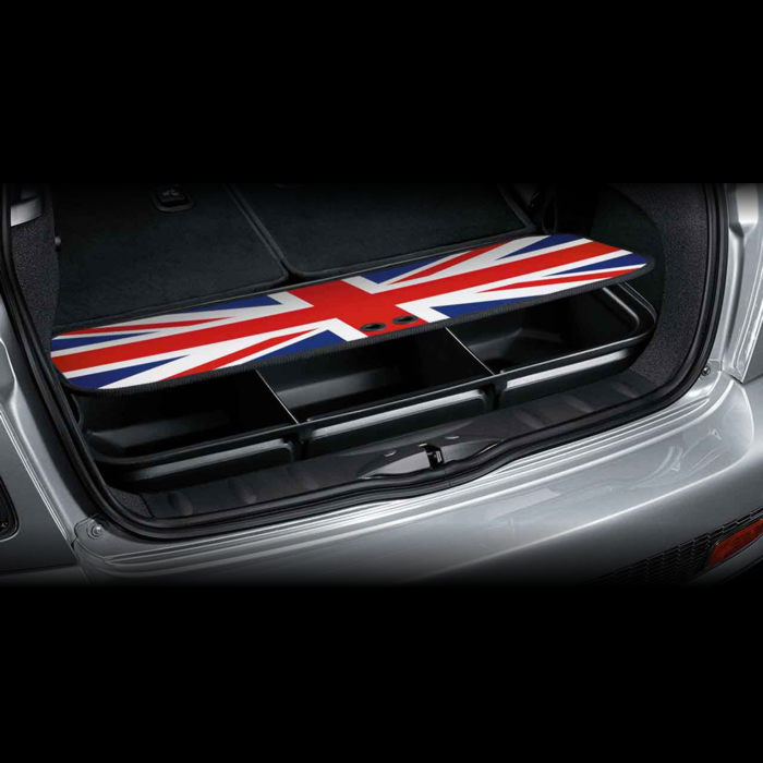 bac de coffre union jack dans accessoires d 39 origine mini. Black Bedroom Furniture Sets. Home Design Ideas