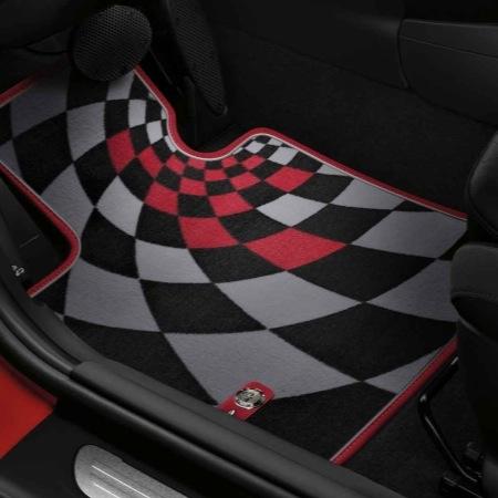 tapis de sol textile jcw pro design dans accessoires d 39 origine mini accessoires int rieurs. Black Bedroom Furniture Sets. Home Design Ideas