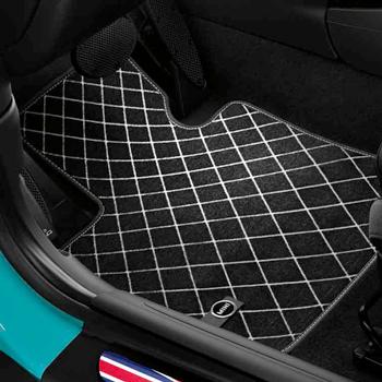 Mini LHD Countryman Tapis de sol avant en caoutchouc pour toutes saisons F60 Noir